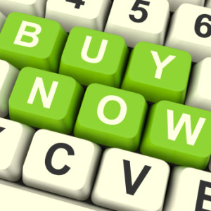 Buy Now Computer Keys As Symbol for Commerce And Purchasing